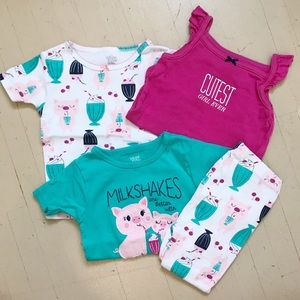 Carter's Ice Cream Pajama Set (bonus pink onesie)